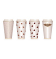 paper coffee cup set eps10 vector image