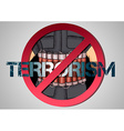 poster against terrorism vector image