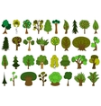 Set of cute doodle trees tree doodles isolated vector image