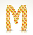 The letter M of the alphabet made of Mango vector image