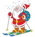Santa Claus skier vector image