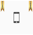 touch phone flat icon vector image