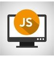 web development computer js language vector image