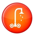 Dripping tap icon flat style vector image