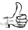 Thumb up like hand symbol vector image vector image