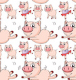 Seamless pig vector image vector image