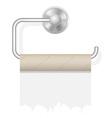 toilet paper on holder 02 vector image