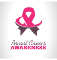 Pink Ribbon Awareness Logo Icon vector image vector image
