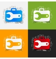 Drawing business formulas wrench vector image
