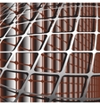 with lattice structure vector image