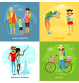 Traveling Concept Icons Set vector image