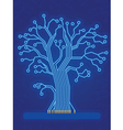 Blue Technology Tree vector image