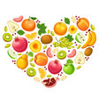 colorful natural fruits concept vector image
