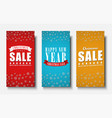 design of vertical banners for christmas sales vector image