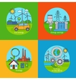 Green energy and ecology concept icons vector image