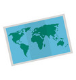 map paper isolated icon vector image