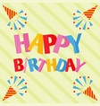 party celebration happy birthday surprise vector image