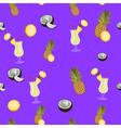 Pina Colada purple seamless pattern Pineapple vector image