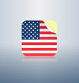 Usa peeling sticker rounded corners vector