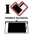 Mobile Banking Logo Design vector image