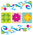 Color Floral ornament vector image vector image