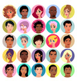 Collection of female and male avatars vector image