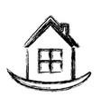 house emblem icon vector image