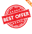 Stamp sticker best offer collection - - EPS vector image
