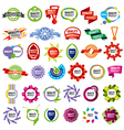 biggest collection of icons framework vector image vector image