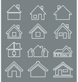 Outline house icon vector image