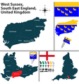 West Sussex South East England vector image