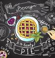 berry pie vector image