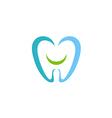 dentist teeth smile logo vector image vector image