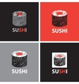 set of abstract banners on the theme of sushi vector image