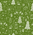 Christmas decoration seamless pattern Toys hand vector image