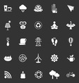 Clean concept icons on gray background vector image