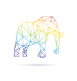 Elephant abstract isolated on a white backgrounds vector image