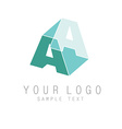 letter A icon vector image