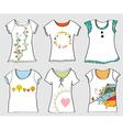 T-shirts templates set vector image