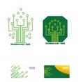 Technology circuit tree concept logo icon vector image