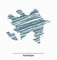Doodle sketch of Azerbaijan map vector image vector image