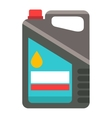 Metal canister of gasoline cartoon vector image