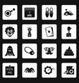 april fools day icons set squares vector image