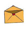 blank envelope open postal email communication vector image