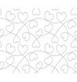 Hearts background Valentines Day Seamless texture vector image vector image