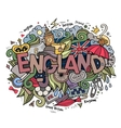 England hand lettering and doodles elements vector image