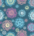 seamless background with abstract floral elements vector image