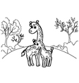 giraffe cartoon coloring pages vector image