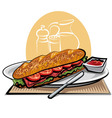 French sandwich vector image