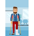 Patient with broken leg vector image